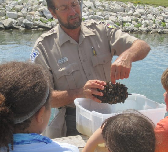 Tom with Mussel Trap